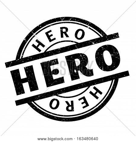Hero rubber stamp. Grunge design with dust scratches. Effects can be easily removed for a clean, crisp look. Color is easily changed.