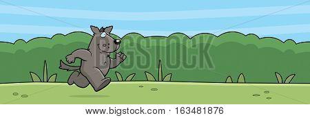 Cartoon Wolf Forest