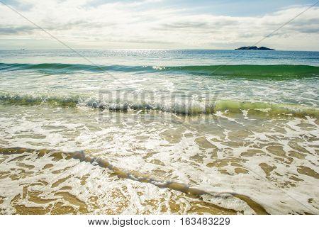 Beautiful Atlantic ocean waves on Ingleses beach