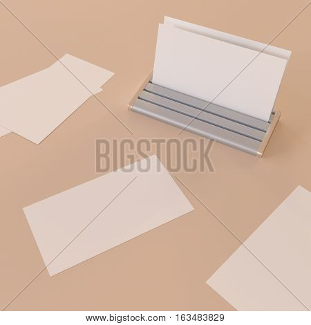 White bussines card mocup 3d illustration clipart CG