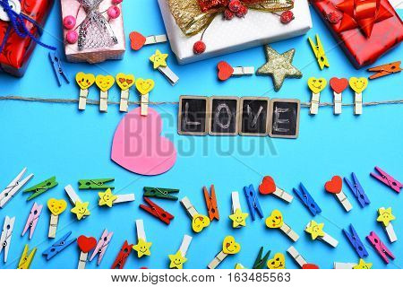 Valentine Card With Boards