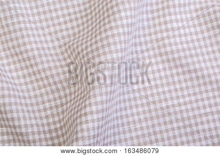 the Crumpled tablecloth Texture close up Fabric Background