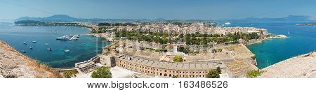 Panorama Of Corfu Town