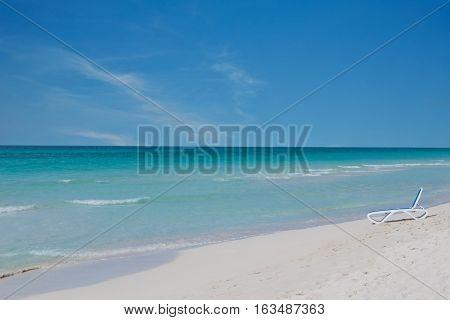 turquoise the Caribbean beach on Cuba Varadero