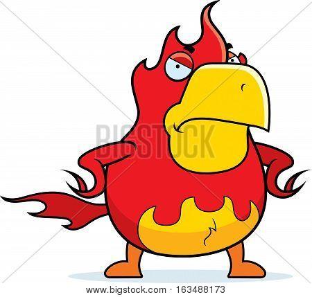 Cartoon Phoenix Angry