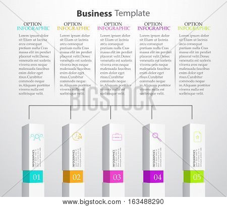 Infographic Columns Business template infographics for the report, presentation, business, web design, advertising.