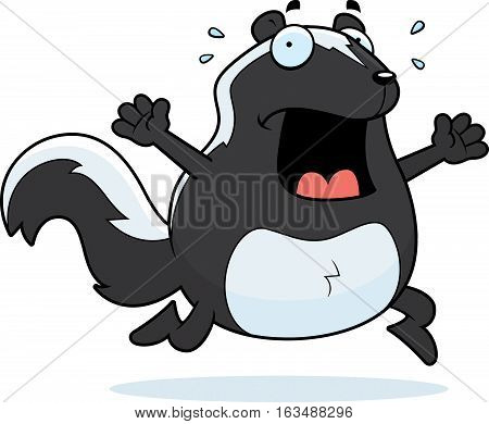 Cartoon Skunk Panic