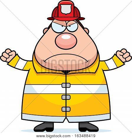 Cartoon Fireman Angry