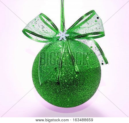 Christmas ball isolated on white background with clipping path