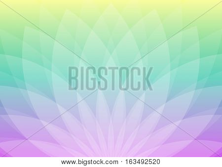 Abstract flower shaped ornament with colorful gradient