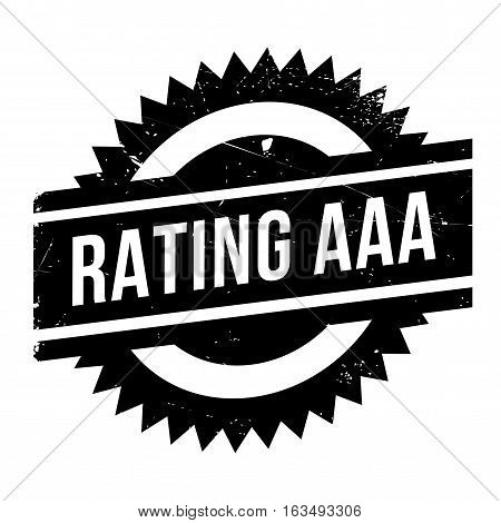 Rating aaa stamp. Grunge design with dust scratches. Effects can be easily removed for a clean, crisp look. Color is easily changed.
