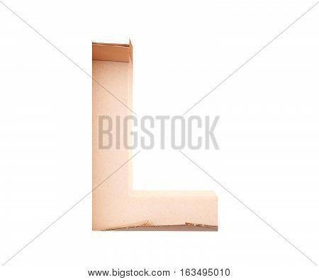 3D Decorative Alphabet From Cardboard Box, Capital Letter L