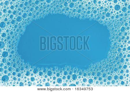 blue foam frame close up