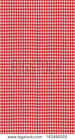 Seamless Tileable Texture - Red Checkered Tablecloth Fabric - Ve