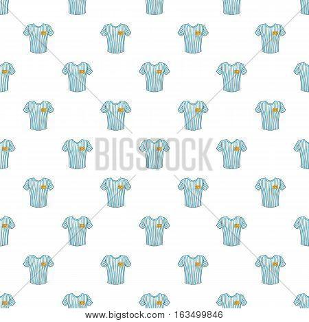 Striped baseball shirt pattern. Cartoon illustration of striped baseball shirt vector pattern for web