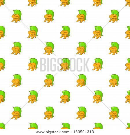 Roman soldiers helmet pattern. Cartoon illustration of roman soldiers helmet vector pattern for web