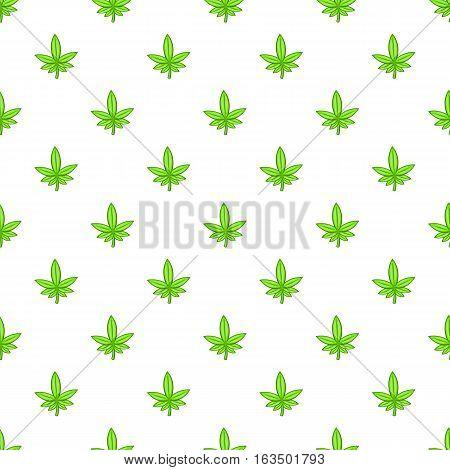 Marijuana leaf pattern. Cartoon illustration of marijuana leaf vector pattern for web