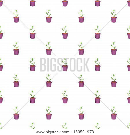 Cannabis plant pattern. Cartoon illustration of cannabis plant vector pattern for web