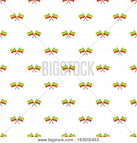 Rastafarian crossed flags pattern. Cartoon illustration of rastafarian crossed flags vector pattern for web