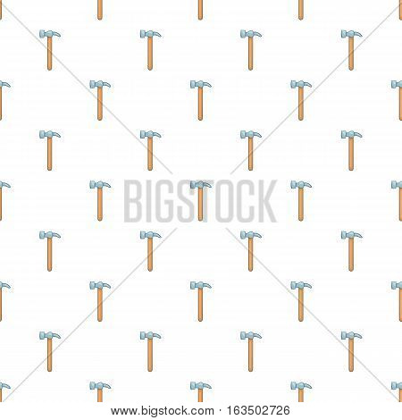 Hammer tool pattern. Cartoon illustration of hummer tool vector pattern for web