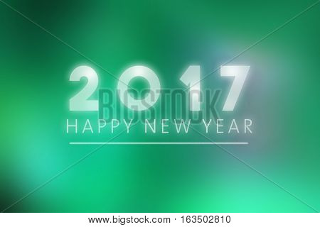 Happy New Year 2017 - illustration, new year greeting card