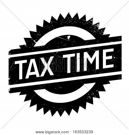 Tax time stamp. Grunge design with dust scratches. Effects can be easily removed for a clean, crisp look. Color is easily changed.