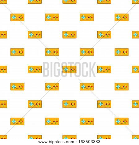 Retro game controller pattern. Cartoon illustration of retro game controller vector pattern for web