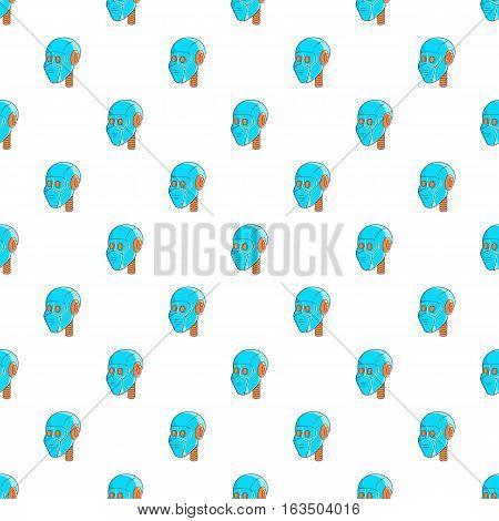 Robotic head pattern. Cartoon illustration of robotic head vector pattern for web