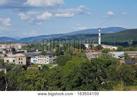 Landscape of Uzhorod city. Zakarpatska Oblast. Ukraine.