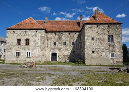 The Saint Miklosh Castle. Chynadieve. Zakarpatska Oblast.