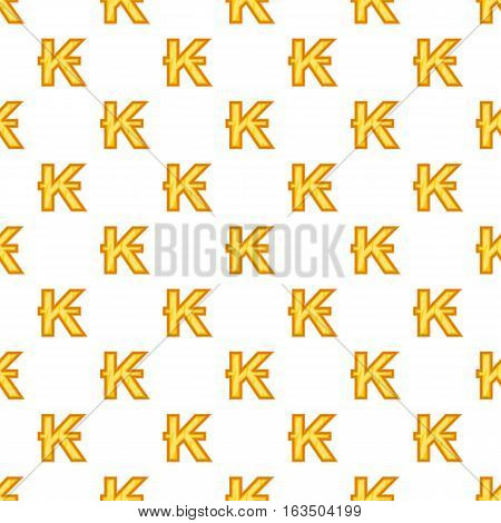 Lao kip currency symbol pattern. Cartoon illustration of lao kip currency symbol vector pattern for web