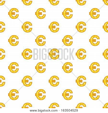 Euro currency symbol pattern. Cartoon illustration of euro currency symbol vector pattern for web