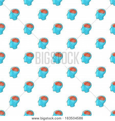 Human brain pattern. Cartoon illustration of human brain vector pattern for web