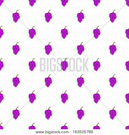 Grape branch pattern. Cartoon illustration of grape branch vector pattern for web