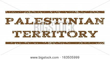Palestinian Territory watermark stamp. Text caption between horizontal parallel lines with grunge design style. Rubber seal stamp with unclean texture.