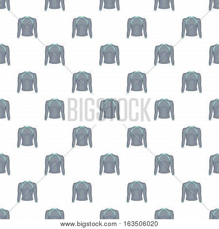 Thermolinen gray pullover pattern. Cartoon illustration of thermolinen gray pullover vector pattern for web