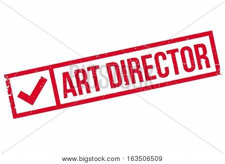 Art Director rubber stamp. Grunge design with dust scratches. Effects can be easily removed for a clean, crisp look. Color is easily changed.