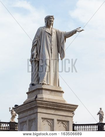 The Statue Of Dante Alighieri, Piazza Dante, Naples