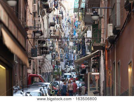The Neighborhood Called Quartieri Spagnoli In Naples