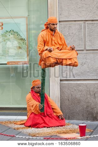 Indian Street Performers With Leavening Show.