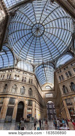 Interior Of Galleria Umberto I In Naples