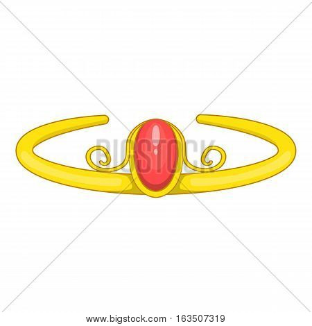 Diadem icon. Cartoon illustration of diadem vector icon for web design