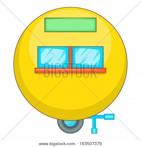 Camping trailer icon. Cartoon illustration of camping trailer vector icon for web design