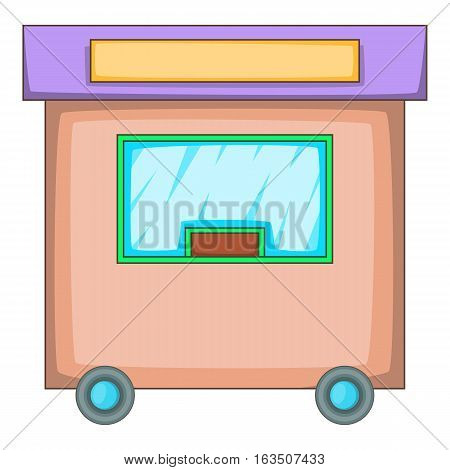 Travel trailer icon. Cartoon illustration of travel trailer vector icon for web design