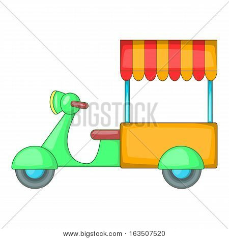 Food cart icon. Cartoon illustration of food cart vector icon for web design