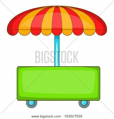 Wheel shop icon. Cartoon illustration of wheel shop vector icon for web design