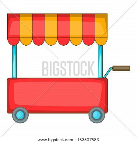 Shop trailer icon. Cartoon illustration of shop trailer vector icon for web design