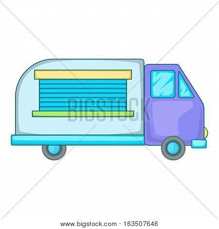 Minivan family car icon. Cartoon illustration of minivan family car vector icon for web design