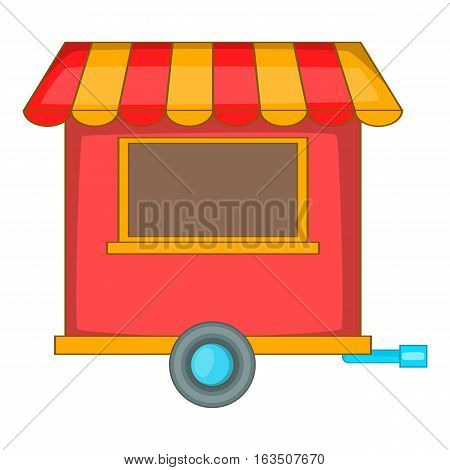 Street food trailer icon. Cartoon illustration of street food trailer vector icon for web design