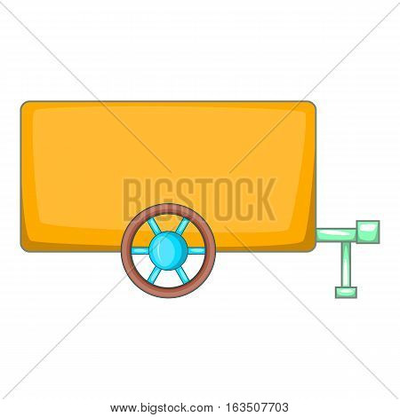Vehicle car trailer icon. Cartoon illustration of vehicle car trailer vector icon for web design